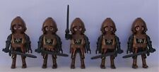 Playmobil    5 x Assorted Bronze Knights  Good Condition