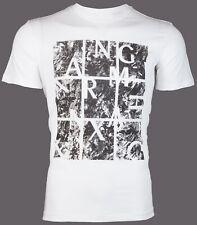 Armani Exchange Mens S/S T-Shirt AN-19 Designer WHITE BLACK Casual M-XL $45