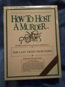 Vtg How to Host a Murder Last Train From Paris Mystery Game 1986 Factory Sealed