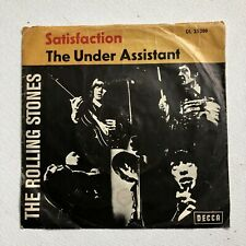 THE ROLLING STONES - SATISFACTION / THE UNDER ASSISTANT RARE 7'' RECORD