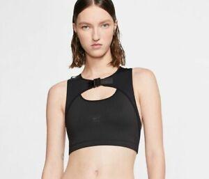 Nike X MMW Womens Sports Bra Matthew M Williams Black Large