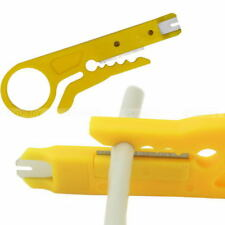 2 X Mini Stripper Network Cable Plier RJ45 Wire UTP Cable Cutter Stripper Yellow