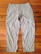 ExOfficio Buzz Off Insect Shield Permethrin Quick Dry Nylon Zip Off Pants XL 40""