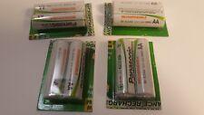 90170 )  8 Panasonic battery rechargeable AA 1.2 volt HR6 1100 NI-MH  BK-3LGAA