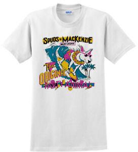 Spuds Mackenzie Bull Terrier Bud Light Dog Shirt