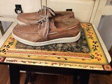Men's Sperry Top-Sider STS14239  Boat Shoes Sneakers 7 M Brown Leather Lace Up