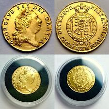 Rare Uncirculated 1801 George III 22ct Gold Half Guinea In Investment Condition