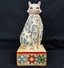"Jim Shore Heartwood Creek Collectible Cat Enesco ""Evangaline"" V4004864 Retired"