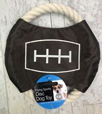 Dukes Sports Flying Disc Dog Toy Rope Run and Play Outside Fun Small 7in New