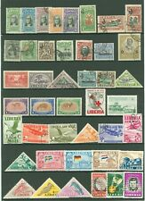 Star R10 Liberia MLH/used Collection Birds Planes Flags