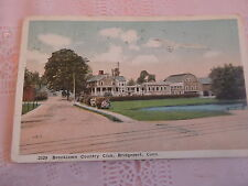 1916 Brooklawn Country Club Bridgeport CT Connecticut post card