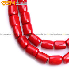 """Column Coral Stone Beads For Jewelry Making 15"""" Beads in Lots Freeform Size"""