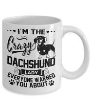 Crazy Dachshund Lady Mug, Dachshund Coffe Mug, Doxie Mug, Dachshund Dog Gifts