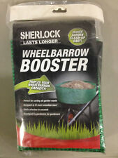 SHERLOCK WHEEL BARROW LOAD BOOSTER CAPACITY GREEN GARDEN YARD GRASS LEAVES