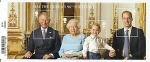 HM The Queen's 90th Birthday Collection Stamps - 4 x Forever Stamps Sheet