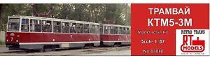 RTM 87010 Soviet tram 71-605 KTM-5M3  Resin model kit 1/87