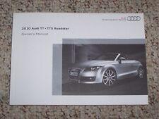 2010 Audi TT TTS Roadster Quattro Factory Original Owner's Owners User Manual