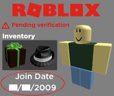 Roblox | Unverified 2008/2009 Account | W/ Perf Legit Business Hat (4k Value)