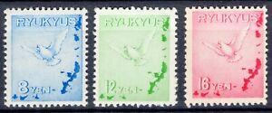 Ryukyu 1950 air post Dove set Scott C1-C3 MLH OG
