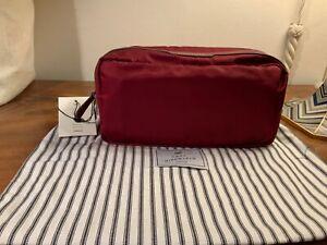 ANYA HINDMARCH Essentials nylon wash bag burgundy unisex NWT