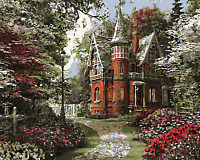 "New DIY Paint By Number 16*20"" kit Oil Painting On Canvas Vintage Abbey 1638"