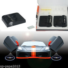 2x For Chrysler wireless CREE LED car door logo shadow welcome light projector