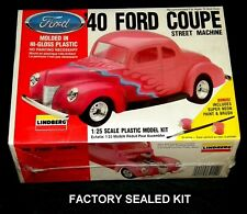 LINDBERG 1/25 SCALE kit '40 FORD COUPE Street Machine  72154 Factory Sealed