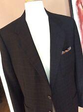 """Cravats Bespoke""A Stylish Black/Tan Window Pane Sports Coat 43R Lux 100% Wool"