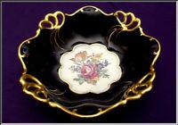 "Gorgeous Vtg 1934-49 Jlmenau Graf Von Henneberg Cobalt German Porcelain Bowl 11"""