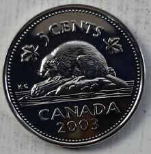 2003 WP 5 Cents Canadian MS-63