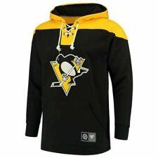 Fanatics Mens NHL Pittsburgh Penguins Hockey Hoodie Pullover Sweater Black XL