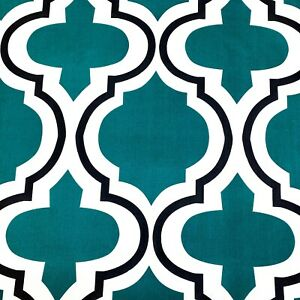 1074. MAROCCAN GREEN MOSAIC 100% Cotton Fabric. Extra wide - 220cm