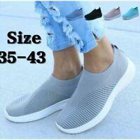 New Fashion Women Comfy Sock Shoes Ultra-light Running Shoes Mesh Woven Sneakers