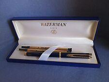 Waterman Paris Vintage Gentleman Blue & Gold Ball Point Pen & 2 Refills NIB