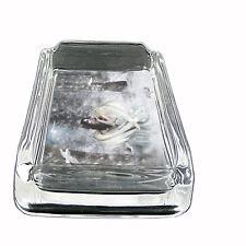 Glass Square Ashtray Fairies Design-003 Custom Fae Imps Faery Magick Forest Puck