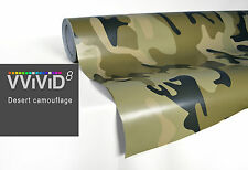 Desert camouflage VVIVID8 car boat vinyl wrap 40ftx5ft 3MIL self adhesive 3MIL