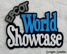 DISNEY EPCOT World Showcase Die Cut Title - Scrapbook Page Paper Piece - SSFFDeb