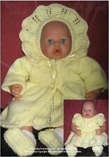 "Annabell/Chou Chou  7: Hand knit  pattern DK, MPN HK227 FF ""My Dolly"" Outfit"