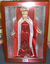 2000 Collector Edition New Year Barbie Doll Red & Silver NRFB HTF