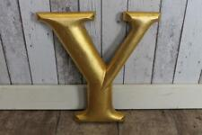 LARGE VINTAGE LETTER Y IN A GOLD FINISH SHABBY CHIC DIFFERENT LETTERS AVAILABLE