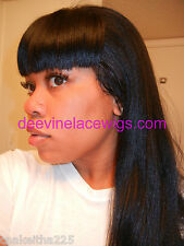 "INSTOCK! 16"" Straight Nicki Minaj Indian Remy Human Hair Full Lace Wig!"