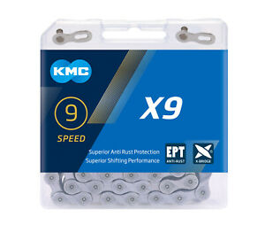 KMC X9-EPT Eco Proteq 9 Speed Bike Chain Rust Proof 650 hr salt spray test Beach