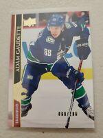 Adam Gaudette 2020-21 UD Series 2 Base Exclusives 68/100 Vancouver Canucks