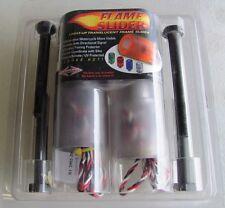GSXR1000 01 02 FLAME SLIDERS AMBER Frame Sliders Suzuki POLYCARBONATE W/ Bracket