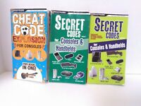 Lot of 3 Brady Games Secret Codes / Cheat Code Explosion Books - Fast Shipping!