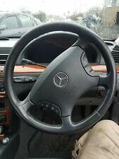 Mercedes W220 S Class 2000-2006 Multi Function Leather Black Steering Wheel