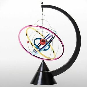 Orbit Kinetic Mobile Multi Coloured Rings Spin Continuous Motion Retro Motion