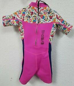 Neoprene Wetsuit Kids Girls Toddler Shorty Thermal Swimsuit 2.5MM, Girls Pink, M