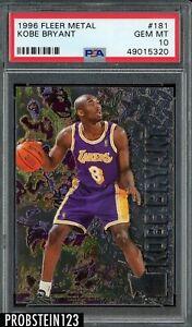 1996-97 Fleer Metal #181 Kobe Bryant Lakers RC Rookie HOF PSA 10 GEM MINT