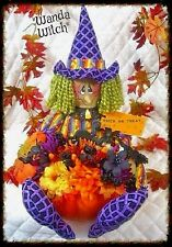 "Primitive ""Wanda Witch"" Pumpkin Centerpiece PATTERN #61"